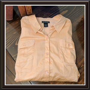 Lane Bryant Peach Work Wear Blouse Sz 18W